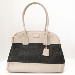 Kate Spade Black and Taupe Pebbled Leather EUC